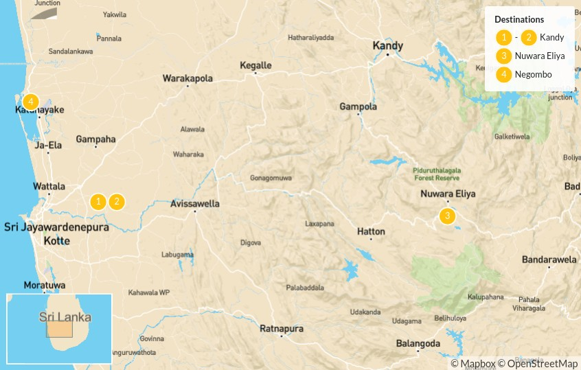 Map of Explore Sri Lanka's Hill Country - 5 Days