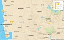 Map thumbnail of Explore Sri Lanka's Hill Country - 5 Days