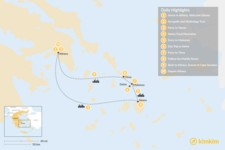 Map thumbnail of Past and Present in Athens, Tinos, Mykonos & Naxos - 10 Days
