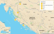 Map thumbnail of Croatia Multisport: Zagreb, Plitvice, Paklenica & Split - 5 Days