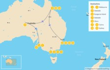 Map thumbnail of Australia Grand Tour: Sydney, Melbourne, Uluru, Great Barrier Reef - 15 Days