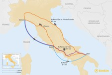 Map thumbnail of How to Get from the Italian Riviera to Puglia