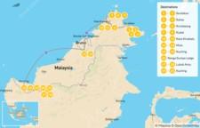 Map thumbnail of Grand Malaysian Borneo Adventure: Sabah & Sarawak States - 22 Days