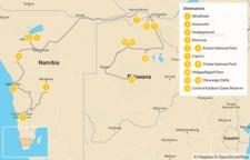 Map thumbnail of Namibia & Botswana Safari Road Trip - 14 Days
