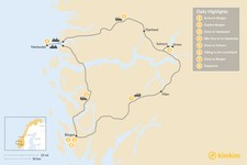 Map thumbnail of Western Norway Self-Drive Tour - 8 Days