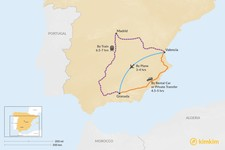 Map thumbnail of How to Get from Valencia to Granada