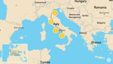Map thumbnail of Family-Friendly Highlights of Italy: Venice, Florence, Rome & Naples - 14 Days