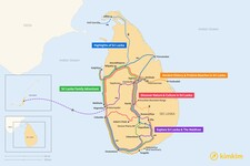 Map thumbnail of 14 Days in Sri Lanka - 5 Unique Itineraries