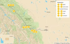 Map thumbnail of Canadian Rockies Road Trip: Banff, Lake Louise, Jasper, & Canmore - 13 Days