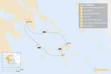 Map thumbnail of Active Cyclades: Naxos & Ios - 7 Days