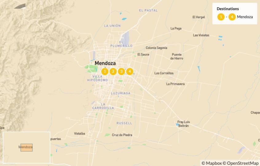 Map of Trekking in Mendoza: Aconcagua Mountain Crossing - 5 Days