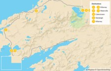 Map thumbnail of Ring of Kerry Guide Assisted Hike - 8 Days