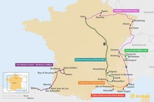 Map thumbnail of 11 Days in France - 7 Unique Itinerary Ideas