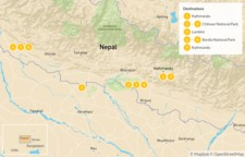 Map thumbnail of Nepal Jungle Safari: Chitwan & Bardia - 10 Days