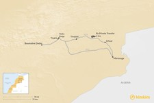 Map thumbnail of How to Get from Boumalne Dades to Merzouga
