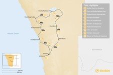 Map thumbnail of Highlights of Namibia - 10 Days