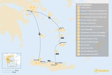 Map thumbnail of Authentic Greek Adventure: Athens to the Cyclades - 16 Days