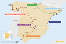 Map thumbnail of 9 Days in Spain - 6 Unique Itinerary Ideas