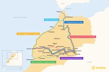 Map thumbnail of 10 Days in Morocco - 6 Unique Itineraries