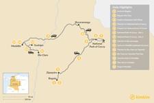 Map thumbnail of Bogotá, Medellín & El Cocuy - 14 Days