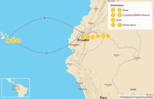 Map thumbnail of Wildlife & Nature in Ecuador - Quito, Amazon, & Galapagos - 10 Days