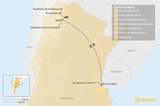 Map thumbnail of Buenos Aires & Salta Adventure - 7 Days
