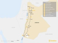 Map thumbnail of Experience Jordan Tour - 8 Days