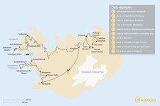 Map thumbnail of Iceland Off The Beaten Path: West and North Escape - 10 Days