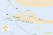Map thumbnail of Unique Ways to Experience the Island of Hvar