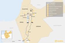 Map thumbnail of Jordan and Jerusalem: Amman, Madaba, Wadi Rum, Petra, and Aqaba - 7 Days
