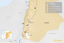 Map thumbnail of Golden Triangle & Dead Sea - 5 Days