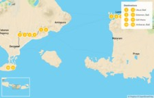 Map thumbnail of Discover Bali: Temples, Trekking, Volcanoes & Gili Islands - 12 Days
