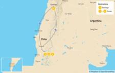 Map thumbnail of Santiago & the Lake District - 5 Days