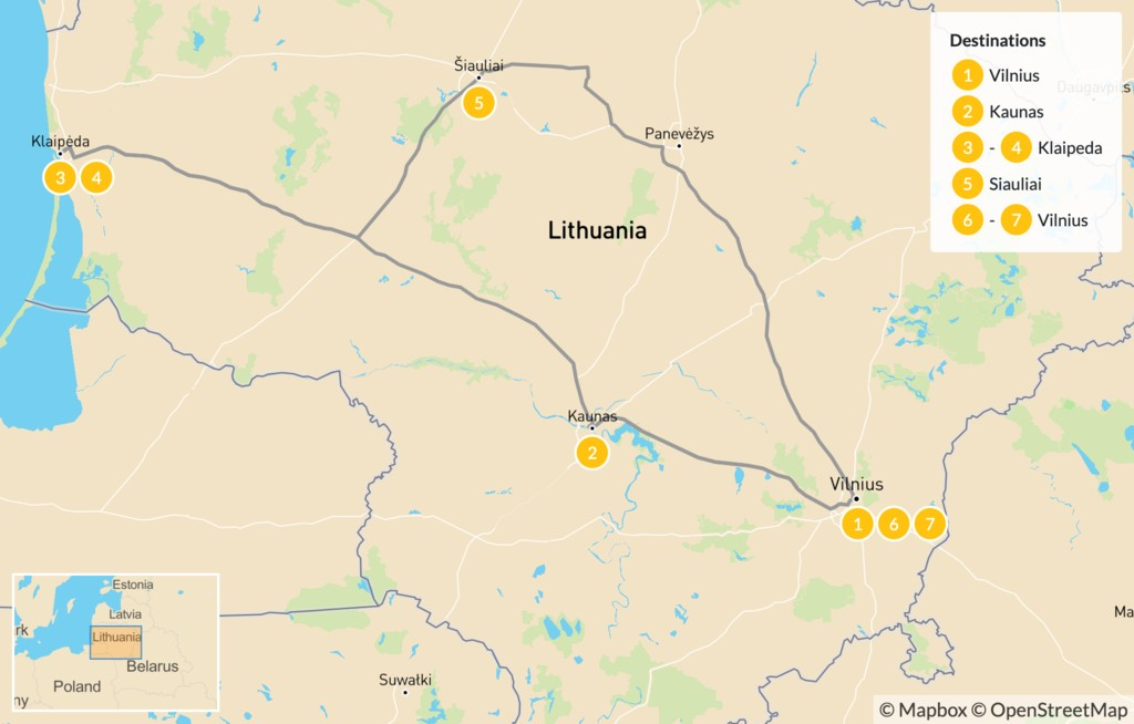 Map of Best of Lithuania - 7 Days