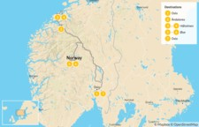 Map thumbnail of Oslo & the Sunnmøre Region - 8 Days