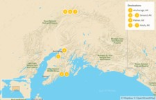 Map thumbnail of Alaskan National Parks: Denali and Kenai Fjords - 8 Days