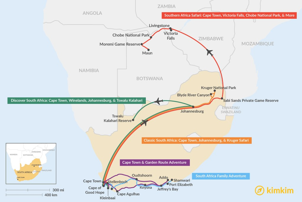 route map of south africa South Africa Travel Maps Maps To Help You Plan Your South Africa route map of south africa