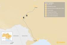 Map thumbnail of Ukraine Self-Guided Tour: Kyiv & Odesa - 7 Days