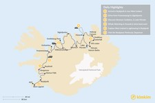 Map thumbnail of Best of Northern Iceland: Arctic Coast & Lake Mývatn - 6 Days