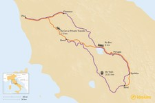 Map thumbnail of How to Get from Tuscany to Umbria