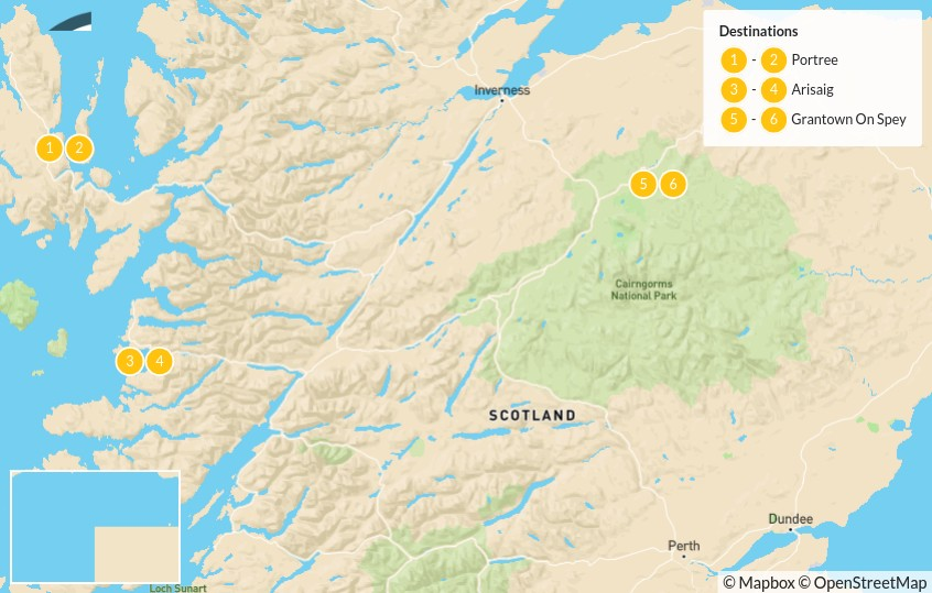 Map of Scottish Highlands Adventure: Fully Guided - 7 Days