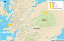 Map thumbnail of Scottish Highlands Adventure: Fully Guided - 7 Days