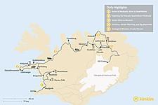 Map thumbnail of 5-Day Self-Driving Tour: Snaefellsnes Peninsula, Akureyri, Myvatn Area
