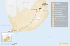 Map thumbnail of Classic South Africa: Cape Town, Johannesburg, & Kruger Safari - 12 Days