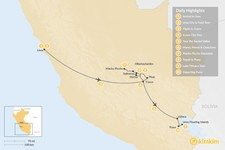 Map thumbnail of Lake Titicaca & Sacred Valley Adventure - 10 Days