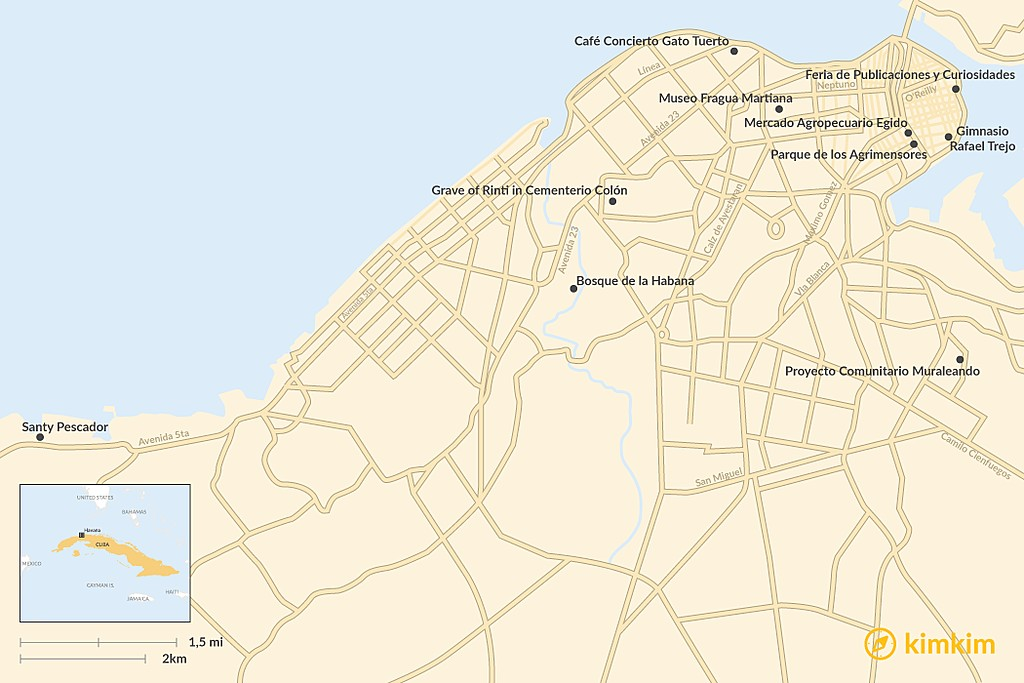 Map of Places Most People Miss in Havana (But Shouldn't)