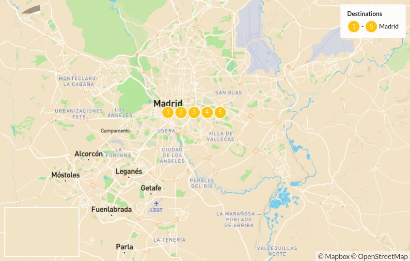 Map of Off the Beaten Path in Madrid - 6 Days