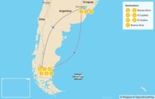 Map thumbnail of Los Glaciares & Fitz Roy - 9 Days