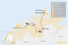 Map thumbnail of Tromsø Winter Adventure - 6 Days