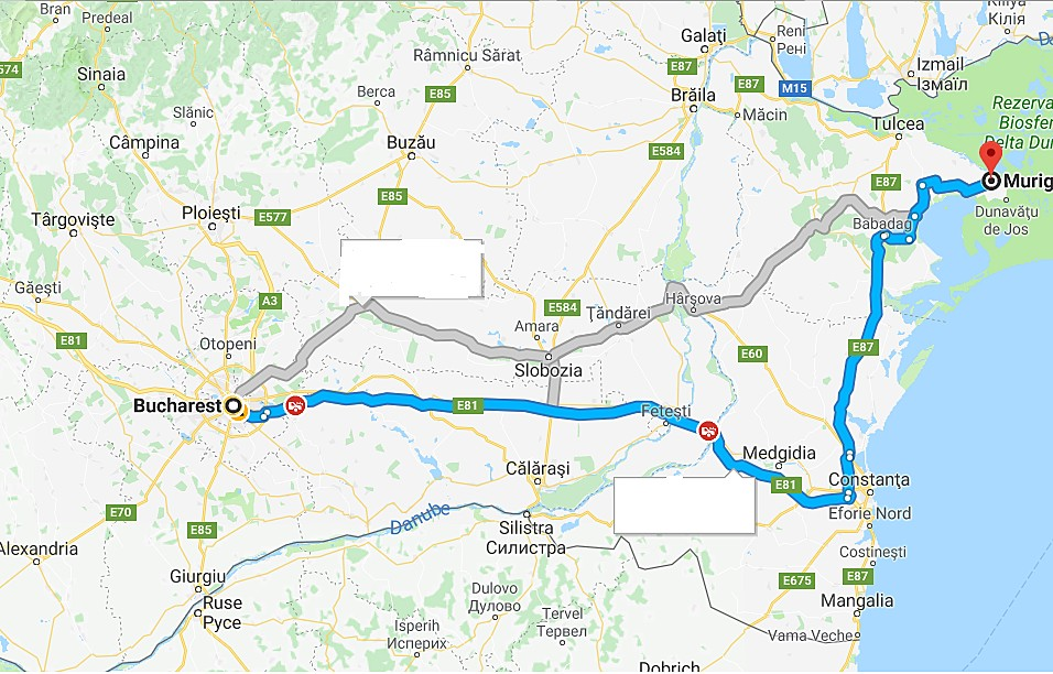 Map of Danube Delta Escape - 3 Days
